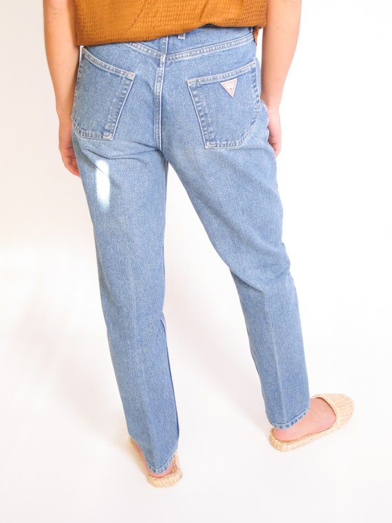 "Vintage Guess Jeans 28"" 1980's Guess jeans, red la"