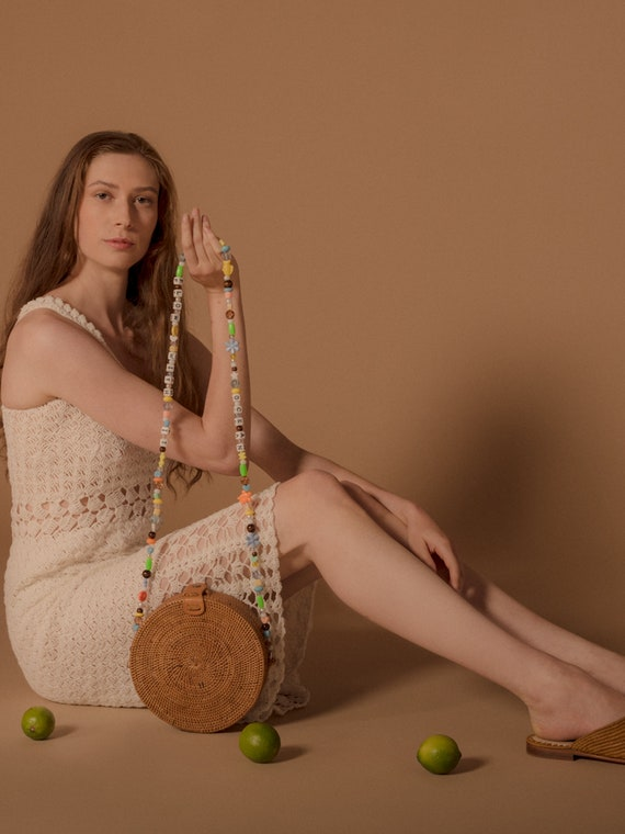 Crochet Sun Dress, vintage crochet dress, bohemian