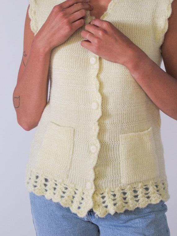 Super Soft Acrylic Knit Vest, corchet vest, sweat… - image 4