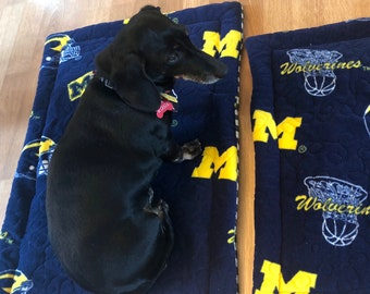 Tough Dog Bed, Dog Crate Pad, Dog Crate Bed | University of Michigan Wolverines