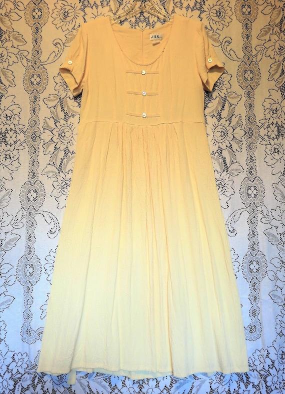 Lovely Vintage J.B.S. LTD Buttery Yellow Boho/Hipp