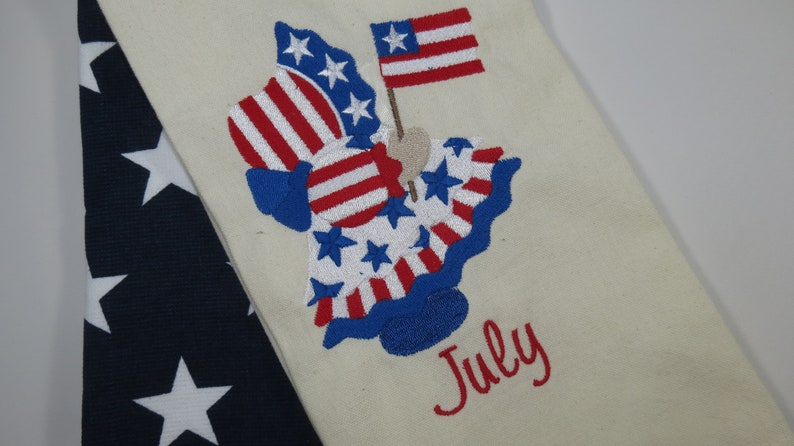 Sunbonnet Sue July Dish Towel, Dish Towel with July, 4th of July Kitchen  Decorations, Decorations for The 4th of July, Kitchen Dish Towels
