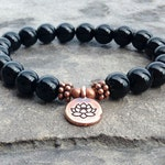 AAA Genuine Black Tourmaline Bracelet, 8mm crystals, Protection - Shield from Negative Energy - Grounding the Root Chakra