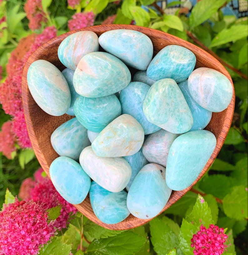 Amazonite Tumbled Stones, Approximately One Inch Crystals, Opening the  Heart Chakra - Stress Relief - Living Mindfully