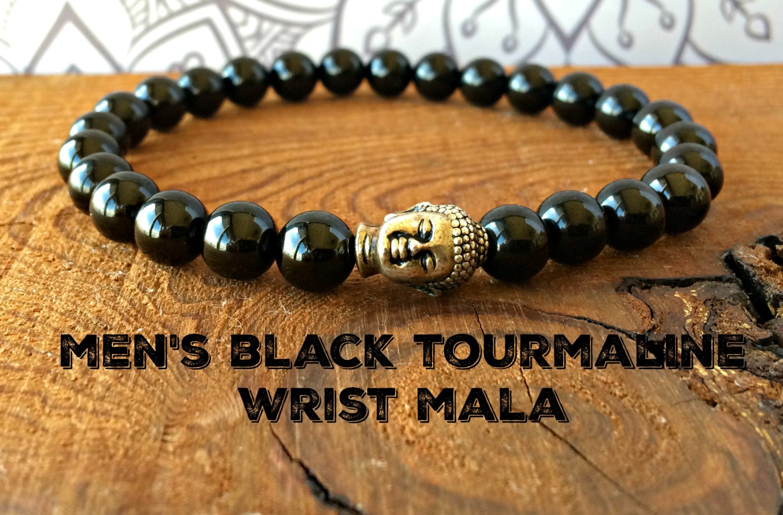 AA Männer schwarzer Turmalin Armband Yoga Heilsteine | Etsy