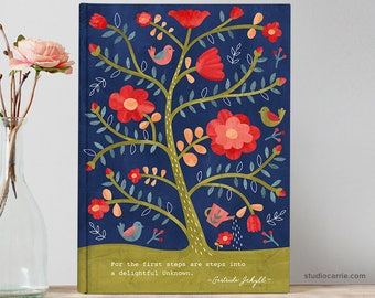 Rose Tree Flower Journal | Studio Carrie | Gifts for Her