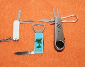 Vintage Pocket Folding Camping Fishing Knives Lot of 3 Sets as Pictured