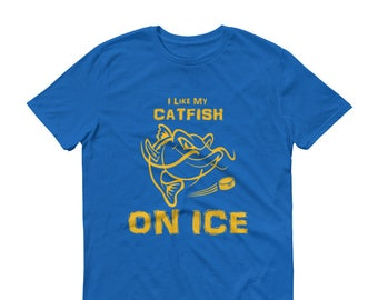 7fab27ac6 I like my Catfish On Ice, Hockey T-shirt, Nashville Hockey, Smashville,  Hockey Fever, Gift for Him, Hockey Player, Hockey