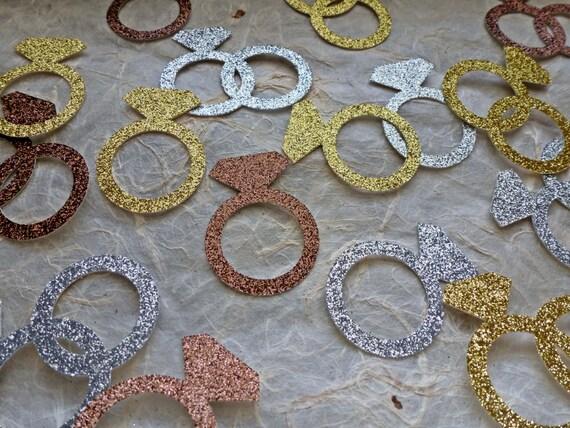 Ringe Hochzeit Konfetti Verlobungsring Gold Silber Bronze Ring Diamant Konfetti Tabelle Konfetti Bling Bachelorette Party