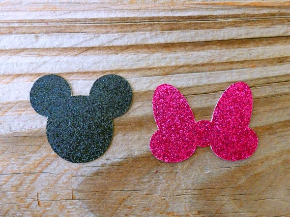 Craft Pastel Paper Disney Mickey Mouse Heads Scrapbook Cardmaking Table-scatter