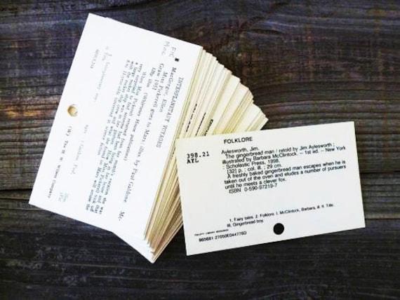Library Card Catalog Cards Vintage Dewey Decimal Cards
