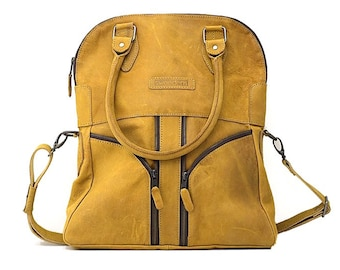 Soria, Real Leather Camel Bag
