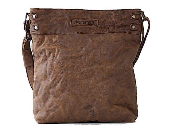 Real Leather Chocolate Tote Bag Avora