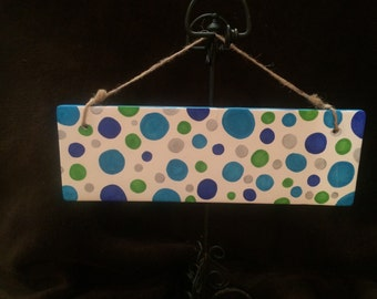 """Customized Name Plaque-11x4""""-Hand Painted"""