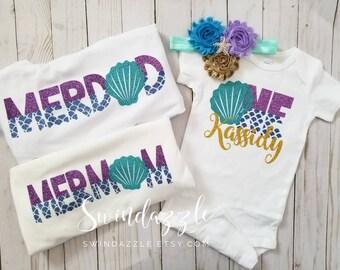 Mermaid Birthday Family Shirts