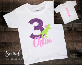 Princess dinosaur Birthday shirt - princess dinosaur Birthday theme - princess dino - dinosaur Birthday for girl - princess Birthday shirt