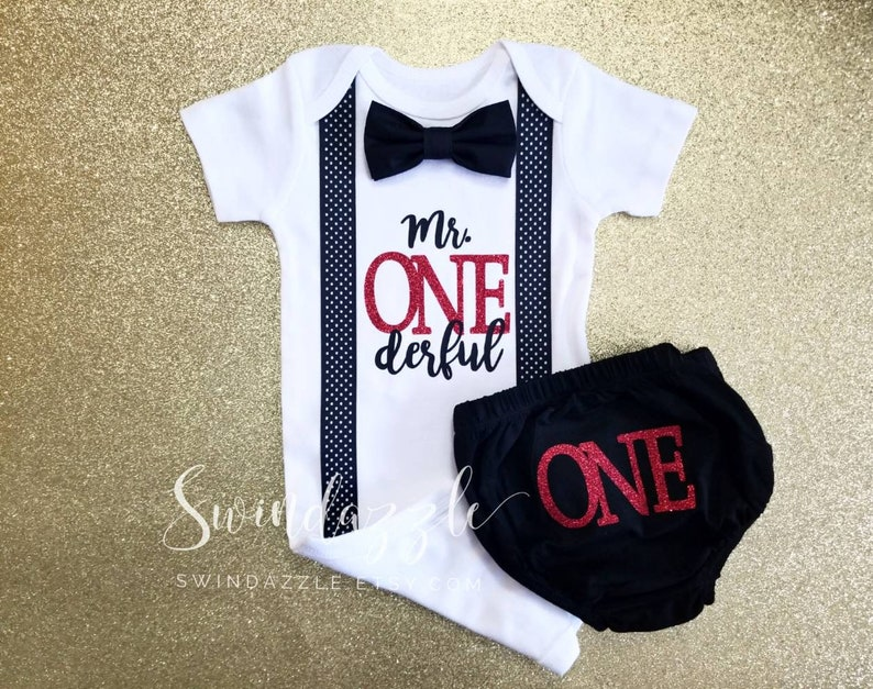 Navy and aqua Mr ONEderful theme ONEderful -items sold separately polka dot cursive ONEderful first birthday ONEderful bodysuit