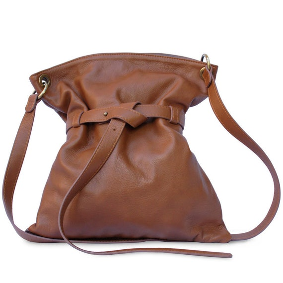 Leather crossbody tote bags for Women tan 19790fd199601