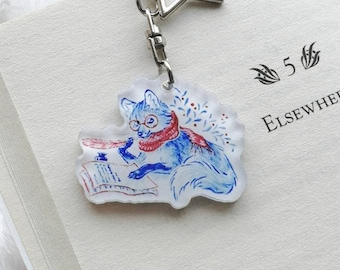 """Doublesided glitter charms - """"how to spend time"""" - porcelain inspired"""