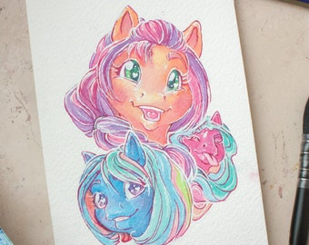 Original watercolor painting - new pony!