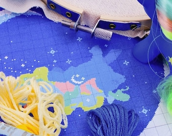 Crossstich Pattern Nachtlicht Pony - DREAMING IN SPACE -