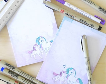 Unicorn pastel notepad
