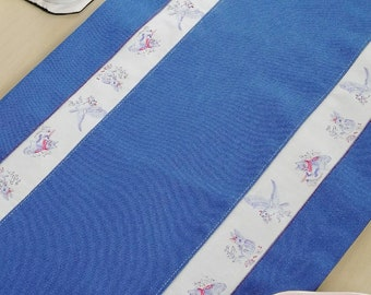 "Blue winter table cloth - ""how to spend time"" and ""Midsummer Birds"""