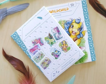 Wildchild postcard set - ponies and their animal soulmate!
