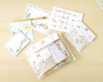 Hesi and Keki  - Stationary set of the bunny and chicken adventures