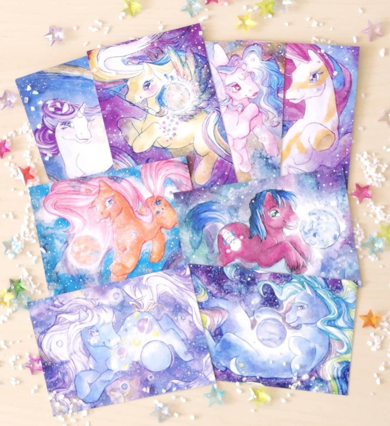 Starstruck postcard set  ponies in the planetary system image 0