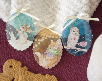 """Winter sparkle ornaments - """"How to spend time"""""""