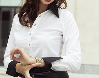 Women's Business Shirt with Collar & Cuffs