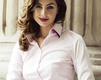 Women's Business Shirt with a Double Collar