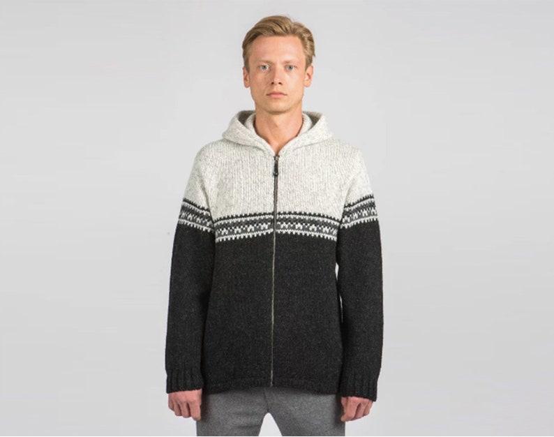 0f6dc6ed4fff Felpa in lana con zip completa     100% pura lana con