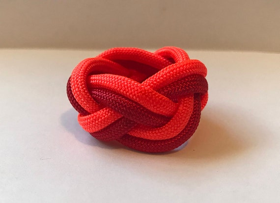 Custom Paracord Two Color Neckerchief Slide Woggle Etsy