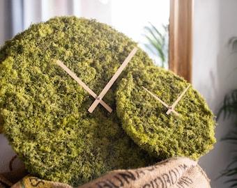 Wall Clock made from Island Moss
