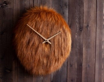 Fluffy watch made of fox fur