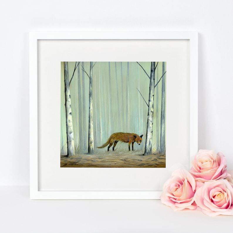 Fox Art Print Red Fox Wall Art Home Decor Red Fox Art image 0