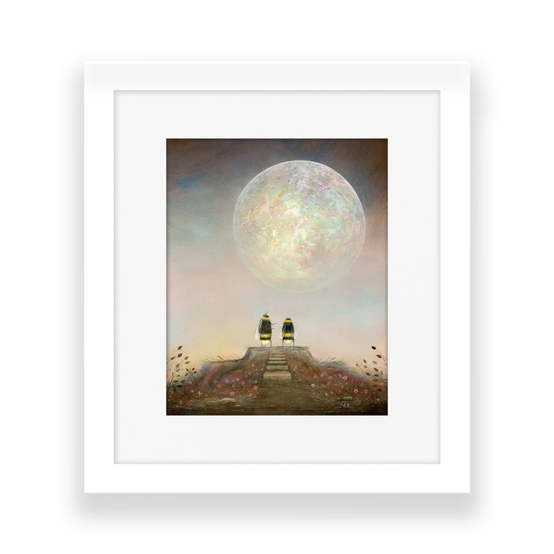 Bee Art Print Astronomy Gift Quirky Gift Idea Personalised image 0