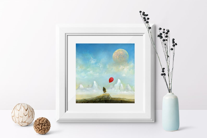 Bee Art Print Christmas Gift Idea Quirky Gift Full Moon image 0