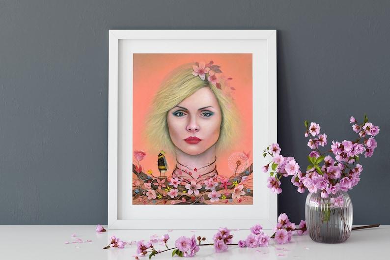 Bee Art Print Debbie Harry Art Illustration Blondie Art image 0