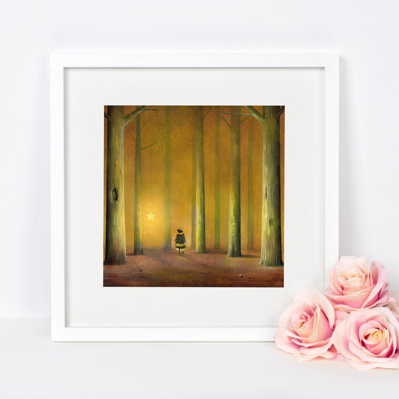 Bee Print Quirky Gift Idea Forest Print Woodland Art image 0