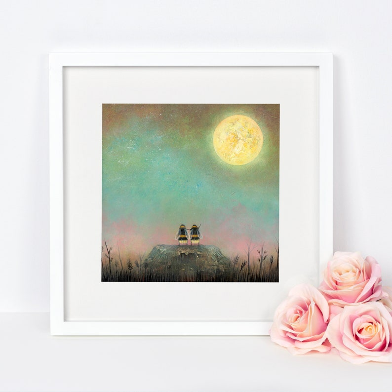 Bee Art Print Astronomy Gift Astronomy Gift Insect Wall image 0