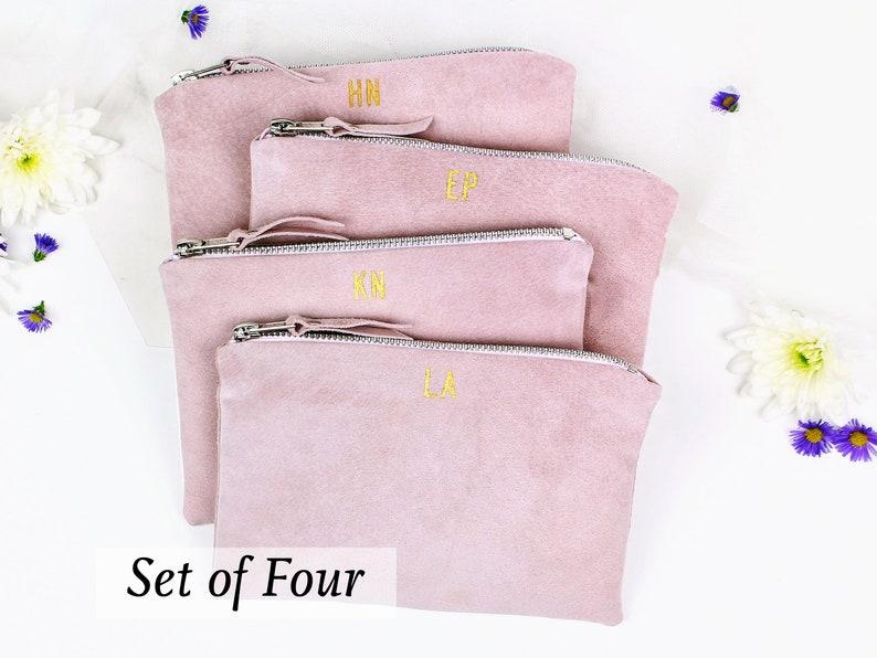 Suede Bridesmaid Clutch Bags // Bridesmaids Gift Set image 0