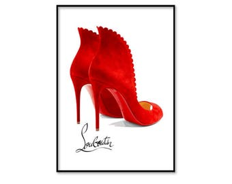 e4a7ac6f6c6c ... cheap christian louboutin shoes christian louboutin heels fashion wall  art fashion illustration print digital download art