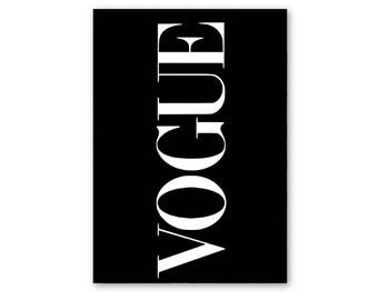 Vogue art print, Vogue poster, Vogue print, Vogue cover, fashion wall art, Vogue illustration, fashion prints, fashion art, Vogue Logo