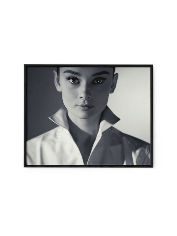Audrey Hepburn Wall Art Framed Audrey Hepburn Wall Art Black | Etsy