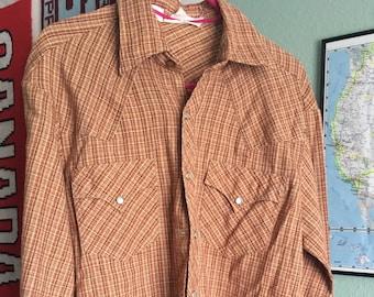 a7da66dd Vintage small western shirt 'Rocking Ranchwear by Kennington Ltd'