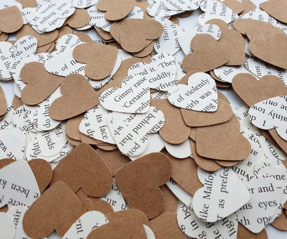 Rustic//Classic//Floral Heart Shaped Romantic//Vintage Wedding Table Top Confetti