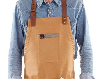 apron TLEAD - CAMEL / CUIR